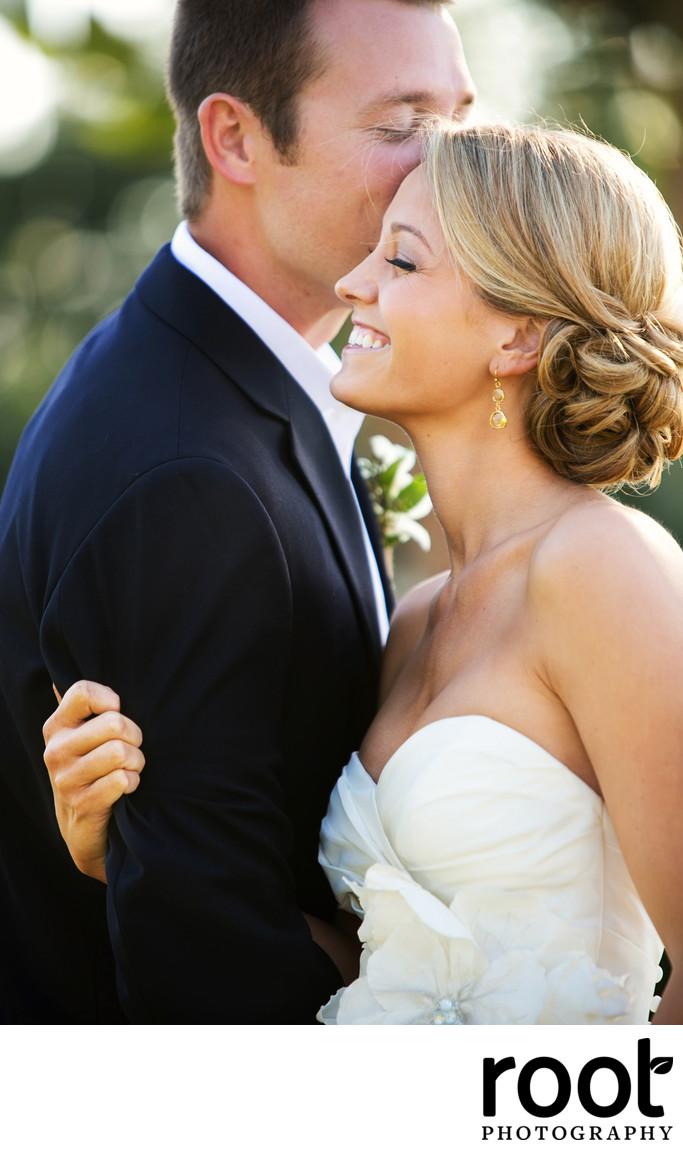 Bride and Groom at Tarpon Lodge