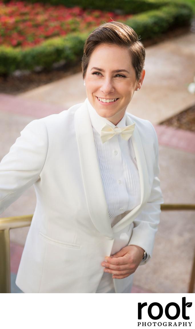 Wedding portrait at Disney's Boardwalk Inn