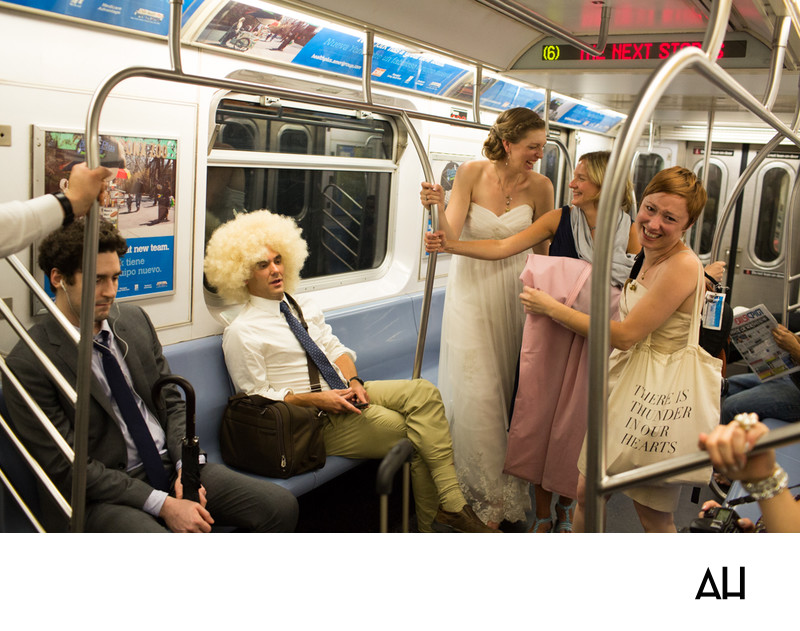 New York Subway Wedding Pics