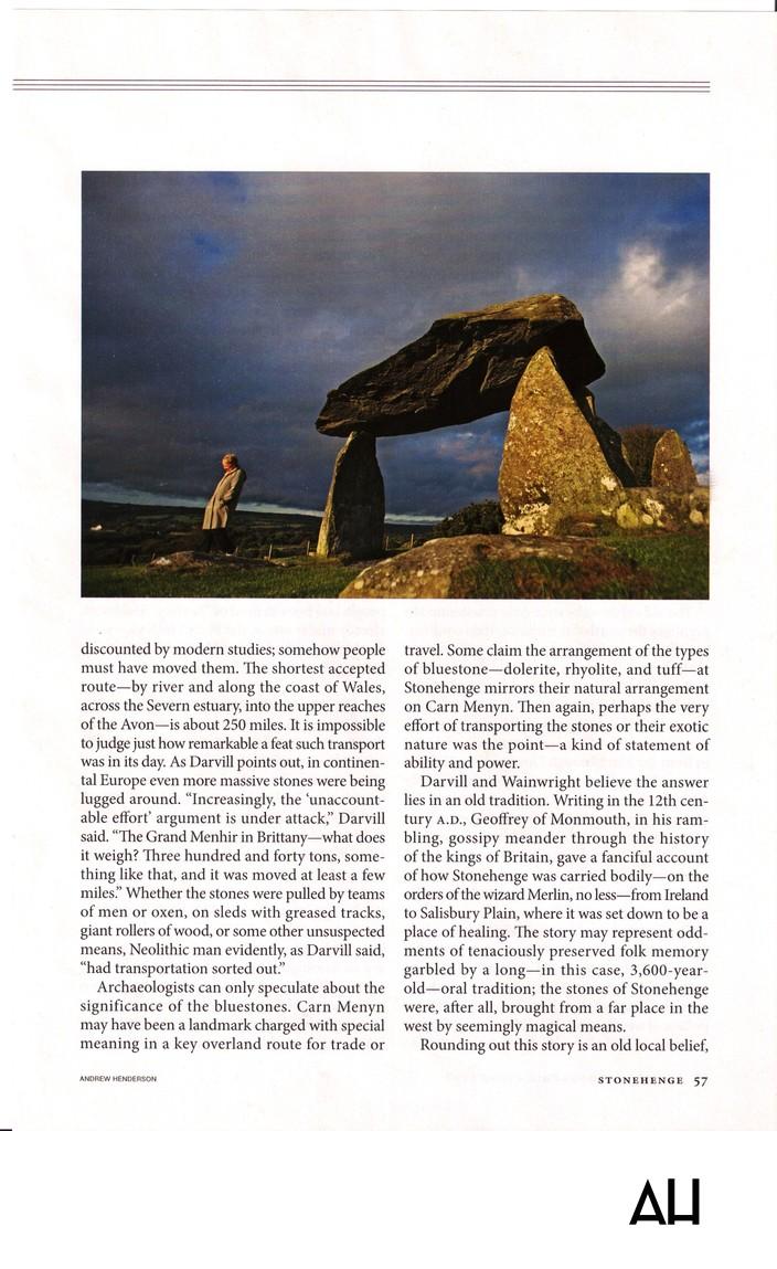 National Geographic Magazine Stonehenge