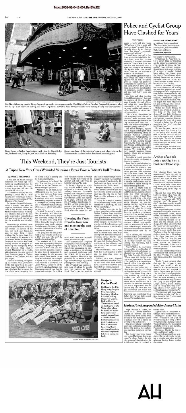 NY Times Tearsheet