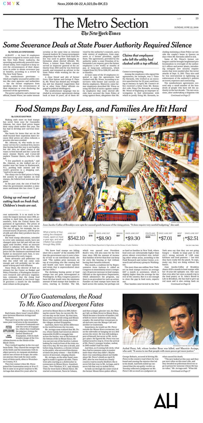 NY Times Metro Photos