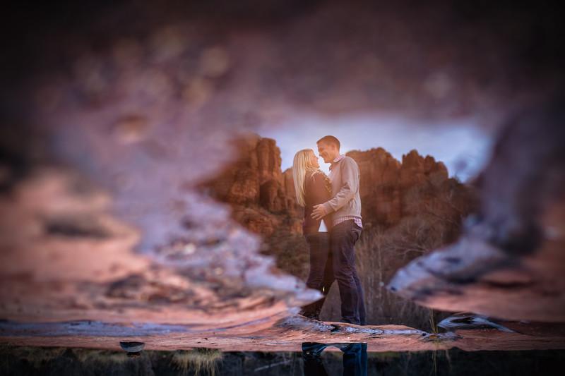 Engagement Shoot at Oak Creek Canyon in Sedona Arizona -Scottsdale Wedding Photographers - Ben and Kelly Photography