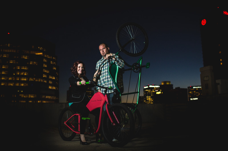 Cool Engagement Portraits in Downtown Phoenix - Best Phoenix Photographers - Ben and Kelly photography