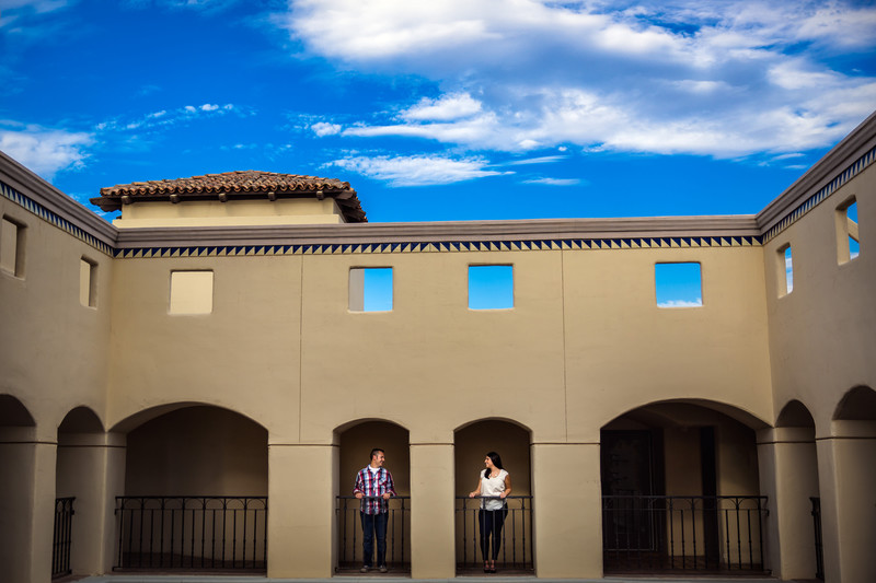 Romantic Engagement Pictures at the Fairmont Princess - Best Scottsdale Wedding Photographers - Ben and Kelly Photography