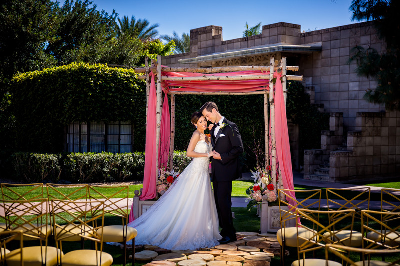 Outdoor Wedding Ceremony at the Biltmore - Scottsdale Photographers - Ben and Kelly Koller