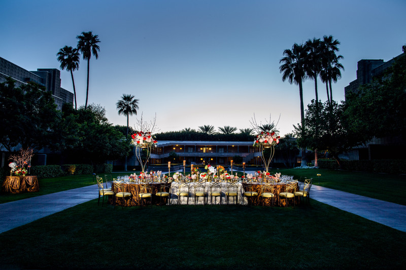 Wedding Reception at the Hotel Valley Ho - Best Phoenix Wedding Photographers - Ben and Kelly Photography