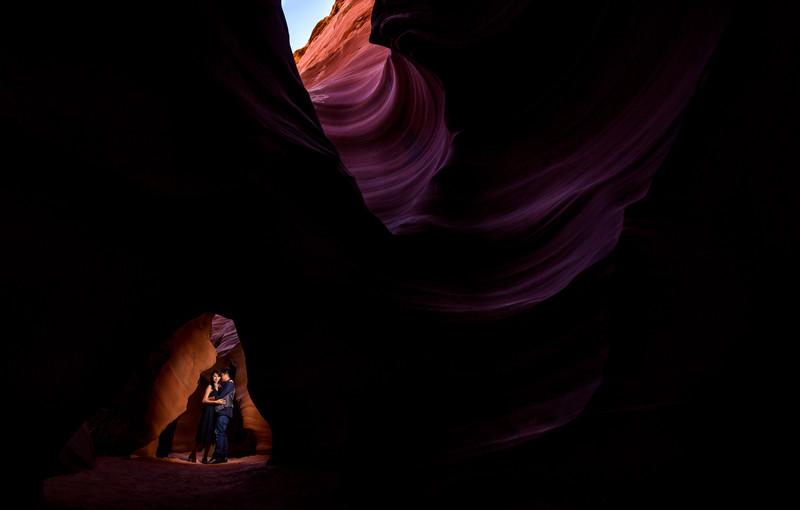 Antelope Canyon Engagement Photography - Horseshoe Bend