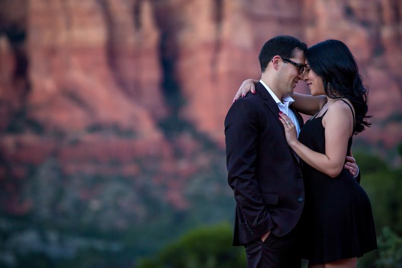 Bell Rock engagement photos in Sedona Arizona