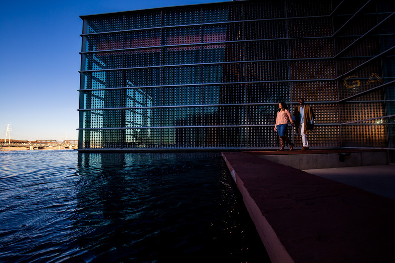 Tempe town lake engagement photos on mill avenue