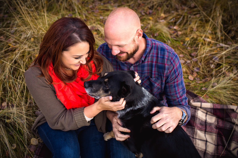 Phoenix engagement photos with dog