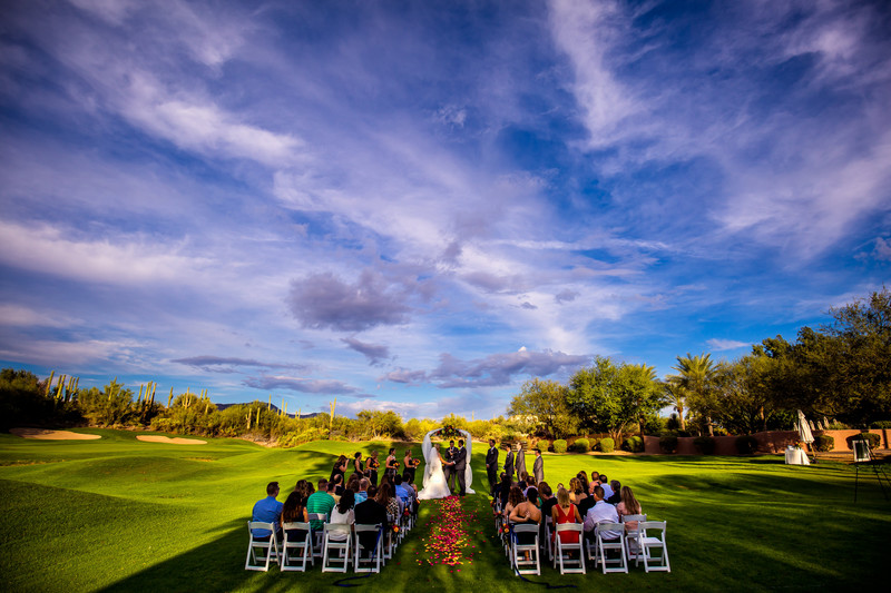 Golf course wedding in Cave Creek Arizona