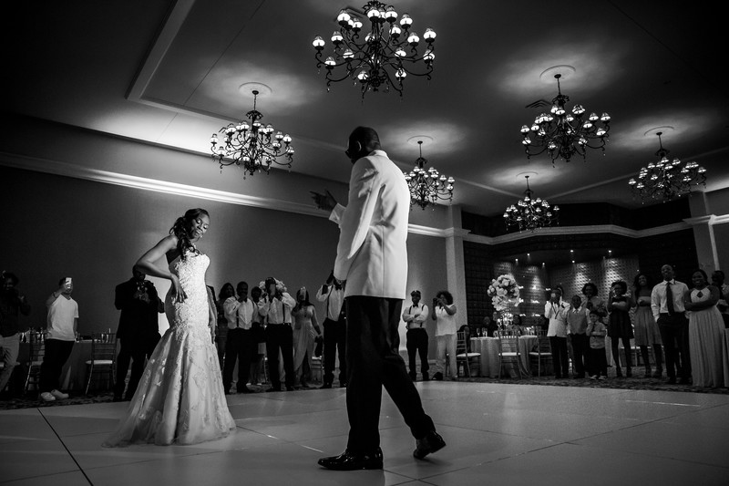 first dance at Phoenix wedding at Chateau Luxe