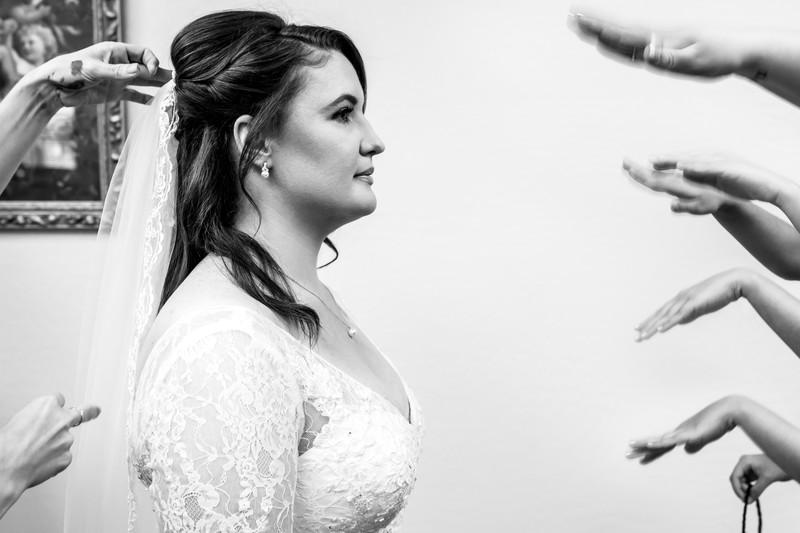 fun getting ready wedding photo in Phoenix