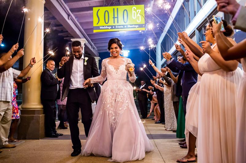 sparkler exit wedding at Soho 63