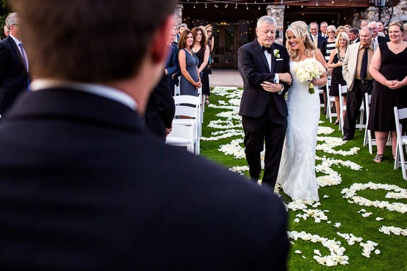 walking down the aisle photo Scottsdale wedding