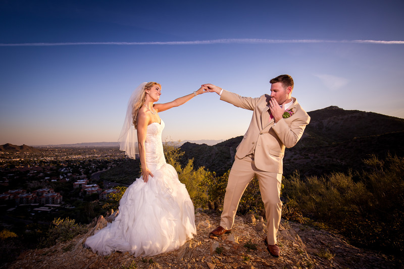 Different Pointe of View wedding in Phoenix Arizona