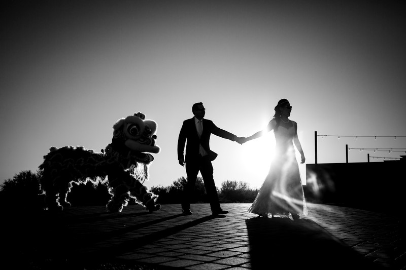 dragon dance wedding photo Phoenix