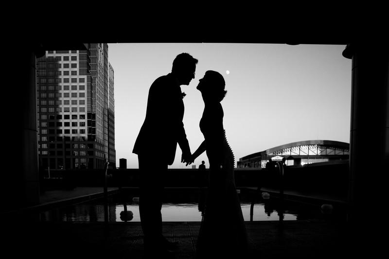 Hotel Palomar wedding in Downtown Phoenix Silhouette