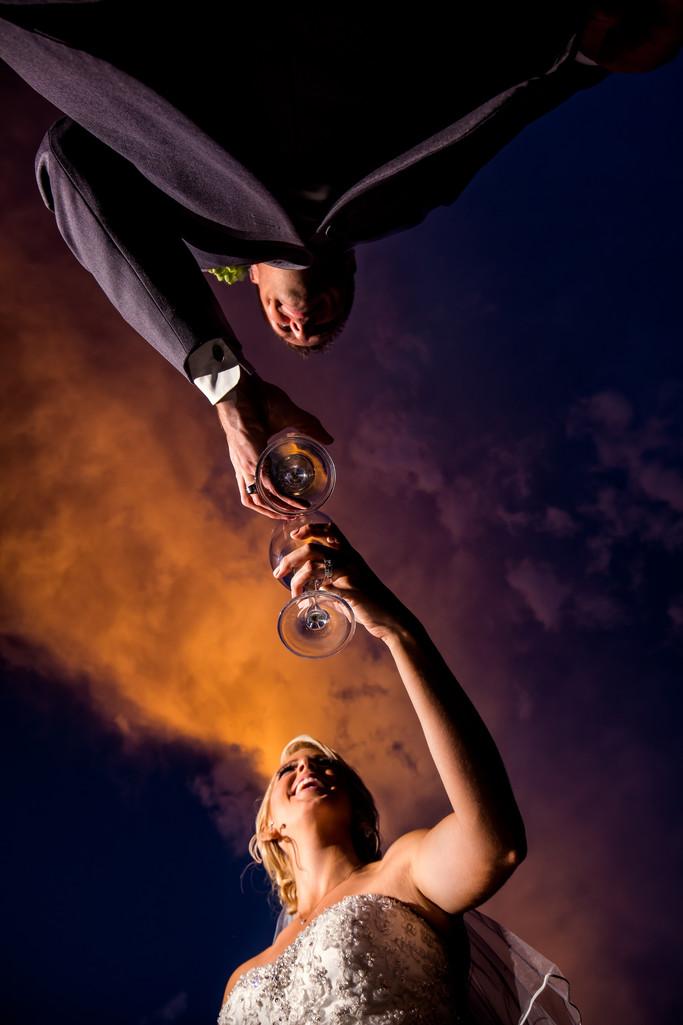 Wedding toast in Phoenix