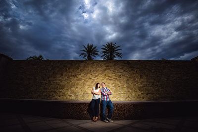 Outdoor Engagement Photos at the Fairmont Princess in Scottsdale Arizona - Scottsdale Wedding Photographers - Ben and Kelly Photography