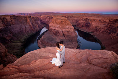 Horseshoe Bend wedding photo - Antelope Canyon Wedding