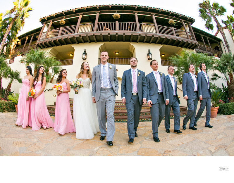 Bridal Party at Estancia La Jolla