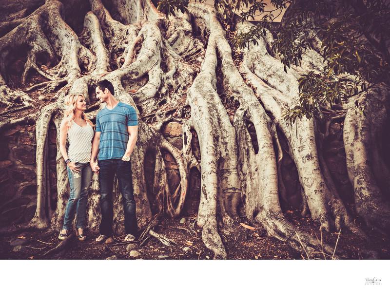 Balboa Park Engagement Photo with