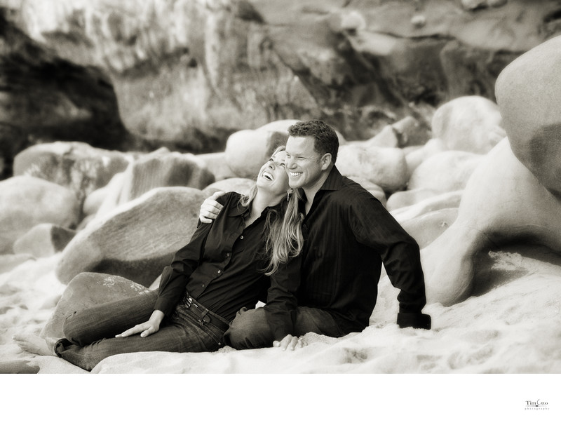 Engagement Pictures at the beach in La Jolla
