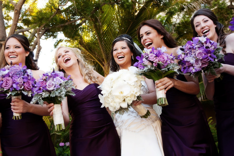Laughing Bridesmaids at the Ritz Carlton Wedding