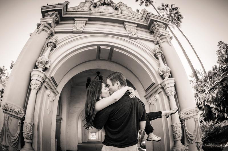 Balboa Park Kiss Photo