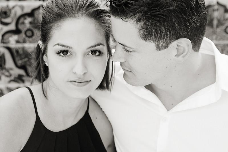 Close up Engagement Photo at Balboa Park