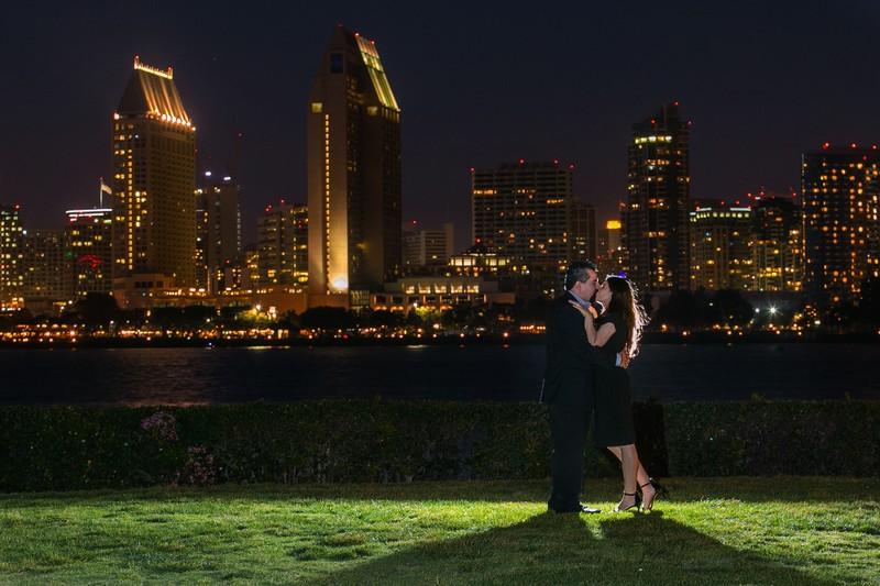 Night Shot Engagement Photo Coronado