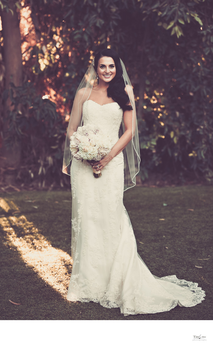 Bride at Twin Oaks Garden Estate