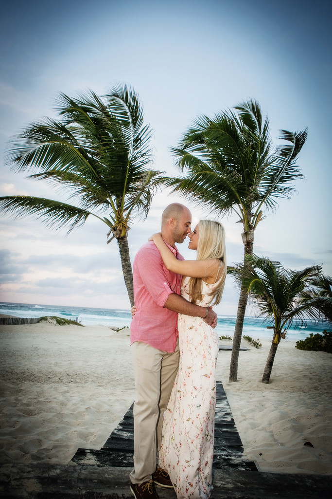 Dominican Republic Engagement Shot Punta Cana Hard Rock