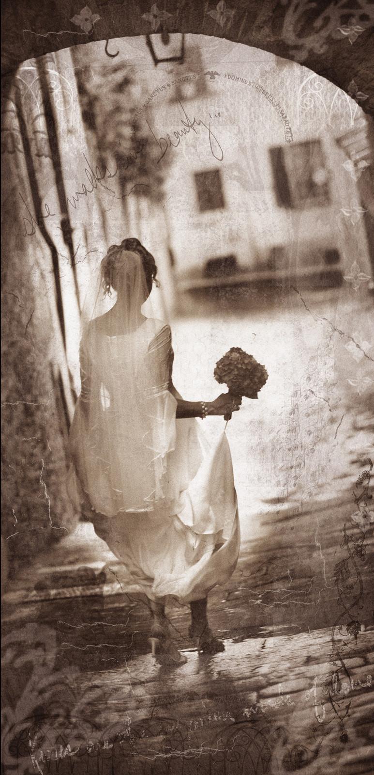 Bride in Arezzo Italy