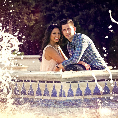 Engagement Photo Balboa Park Fountain