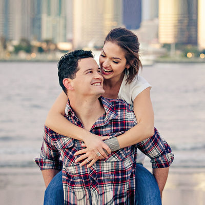 Centennial Park Engagement Photo