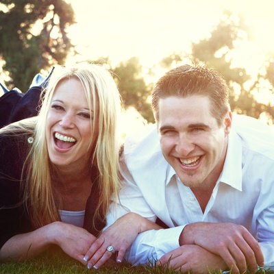 Engagement session at Torrey Pines Golf Course