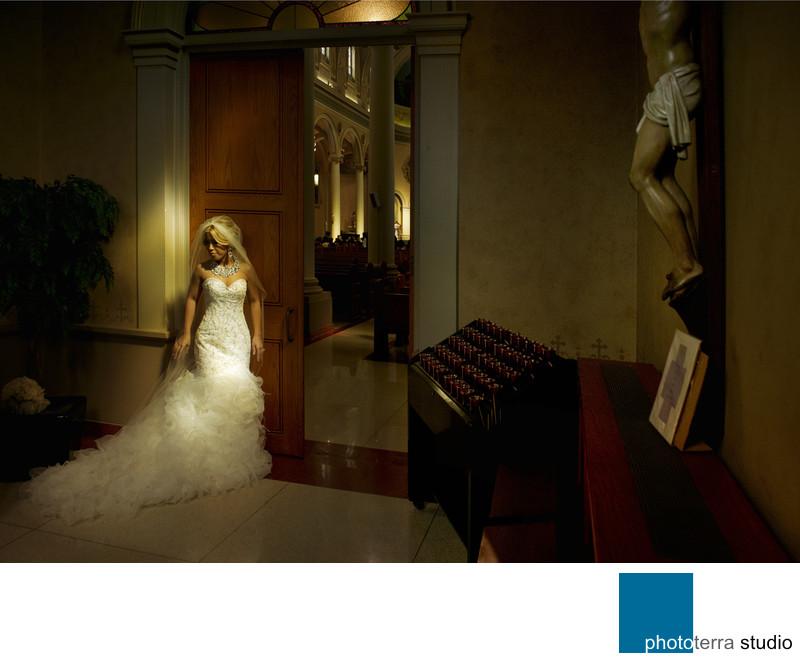 Sunlit Catholic Bride