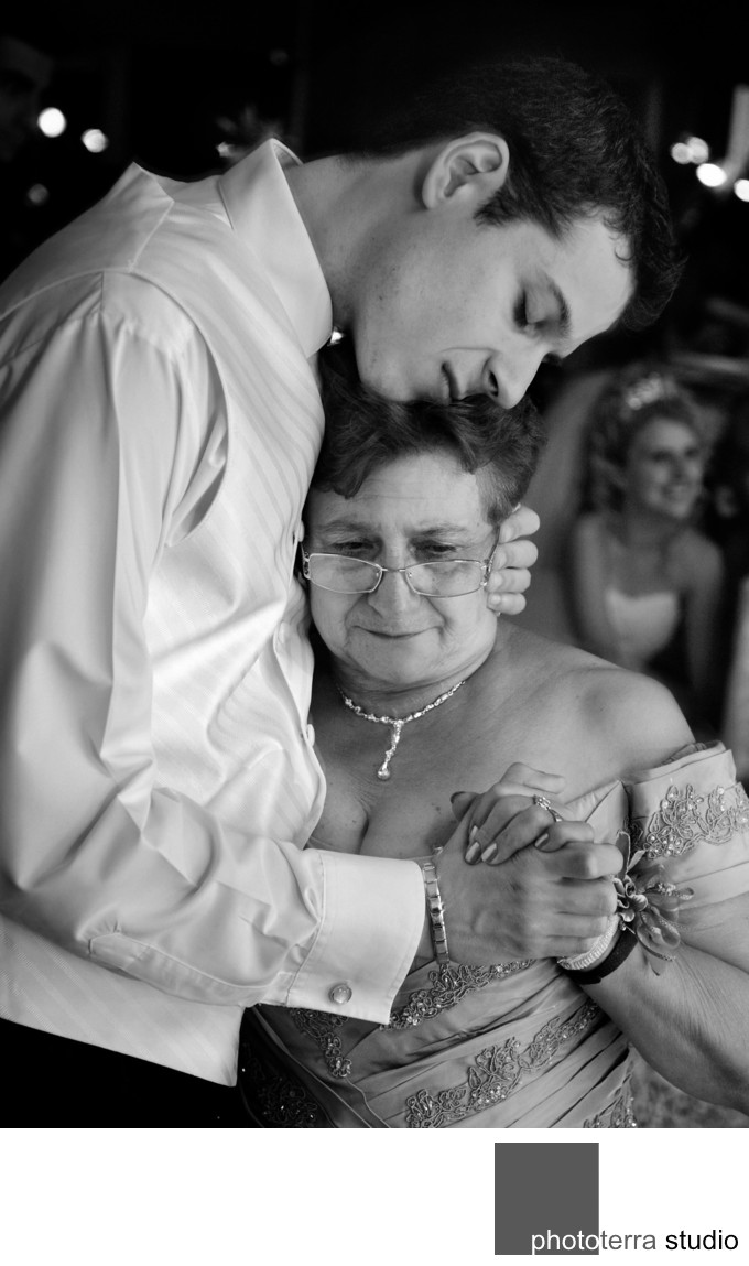 Groom with Mother at Italian wedding