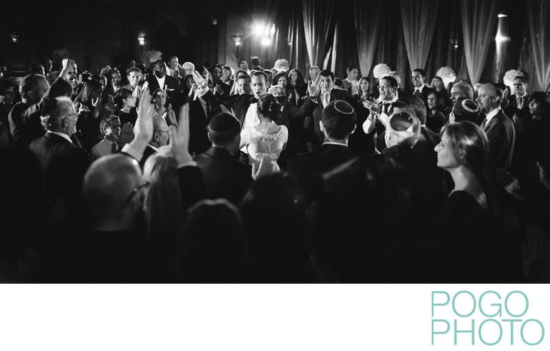 Excited groom during the hora, B'nai Torah, Boca Raton
