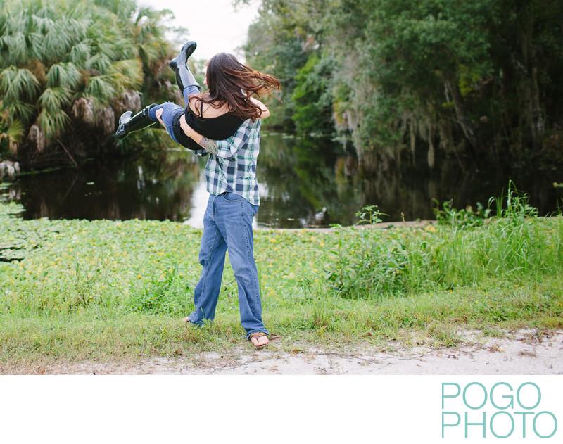 Park engagement session in Jupiter, Florida