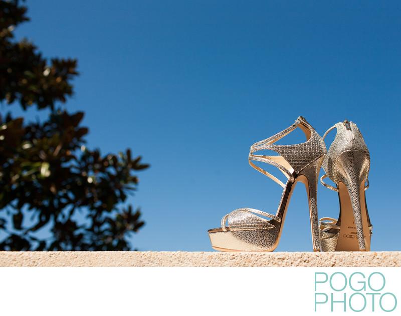 Jimmy Choo wedding shoes at the Ritz Carlton