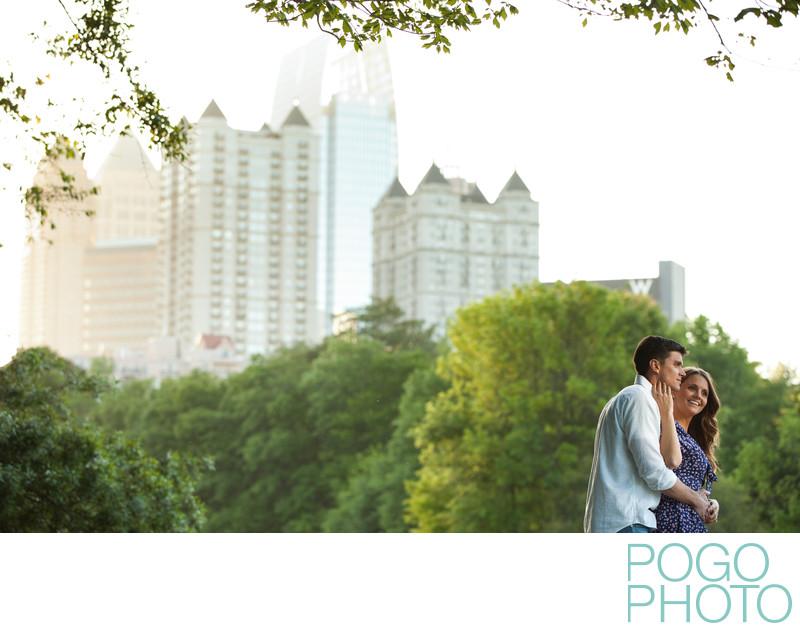 Piedmont Park Engagement Portraits in Atlanta, Georgia