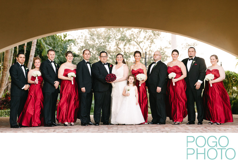 Wedding party portraits at Frenchman's Reserve, Jupiter