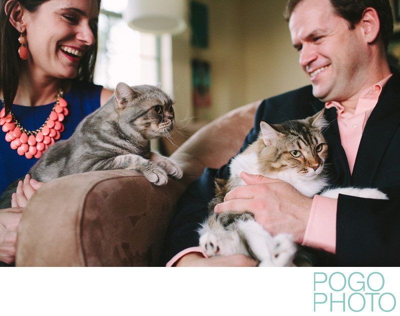 Engagement photos with cats in West Palm Beach