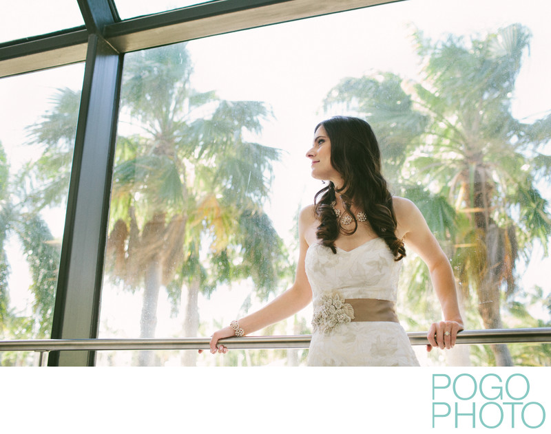 Modern indoor bridal portraits in South Florida