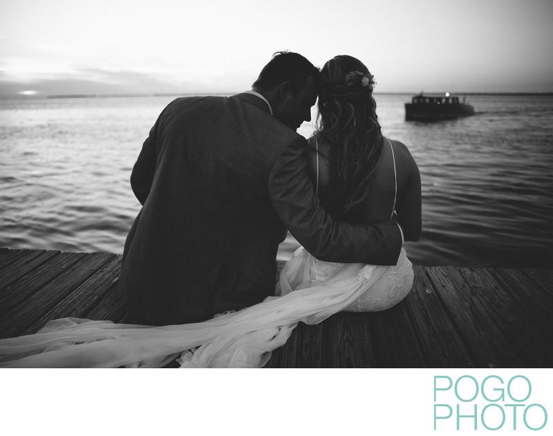 B+W Portrait Key West Destination Wedding Photographers