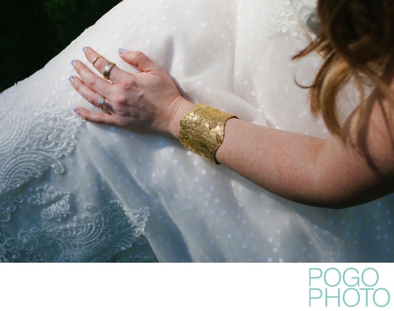 Custom Monika Knutsson Gold Lace Cuff Bracelet